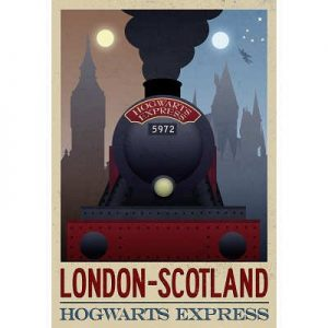 13x19-London-Scotland-Hogwarts-Express-Retro-Travel-Poster-0
