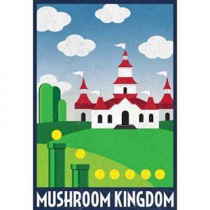 13x19-Mushroom-Kingdom-Retro-Travel-Poster-0