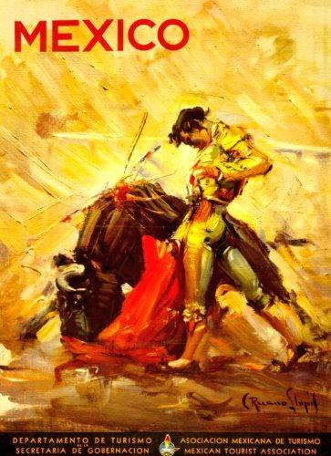 1944-Travel-Poster-Mexico-bullfighting-scene-0