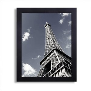 Adeco-PF0378-Black-Wood-125-Inch-Wide-Margin-Poster-Photo-Picture-Frame-11x14-Inch-0