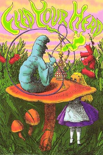 Alice-In-Wonderland-Feed-Your-Head-24x36-Poster-Disney-Art-Print-Smoke-0