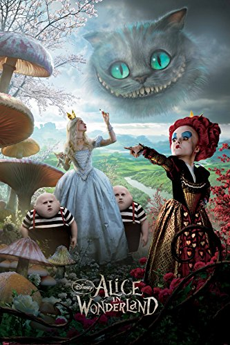 Alice-in-Wonderland-Characters-Adventure-Fantasy-Movie-Film-Poster-Print-24x36-0