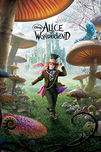 Alice-in-Wonderland-Mad-Hatter-Adventure-Fantasy-Movie-Film-Poster-Print-24x36-0