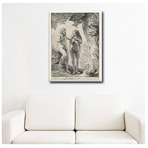 Alonline-Art-HUGE-PHOTO-PAPER-Poster-Rolled-Rembrandt-Adam-and-Eve-32x42-81x108cm-gallery-poster-photo-print-wall-art-decor-photos-prints-reproduction-fine-art-0