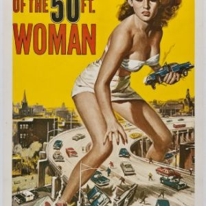Attack-of-the-50ft-Woman-Science-Fiction-B-Movie-Classic-Mini-Art-Print-Poster-0