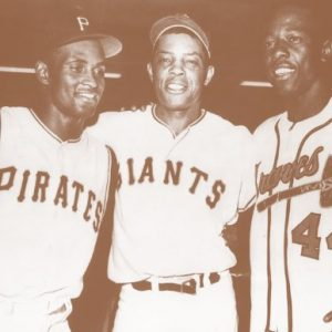 Baseball-Greats-Roberto-Clemente-Willie-Mays-and-Hank-Aaron-11-X-14-Sepia-Poster-0