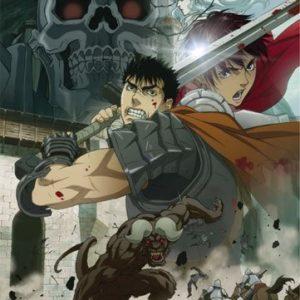 Berserk-Battle-Scene-Fabric-Poster-by-GE-Animation-0