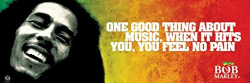 Bob-Marley-One-Good-Thing-About-Music-Music-Slim-Poster-Print-12-by-36-Inch-0