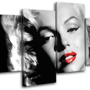 Bold-Bloc-Design-Marilyn-Monroe-Iconic-Celebrities-120x68cm-MULTI-Canvas-Art-Print-Box-Framed-Picture-Wall-Hanging-Hand-Made-In-The-UK-Framed-And-Ready-To-Hang-0