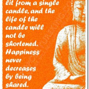 Buddha-Art-Print-THOUSANDS-OF-CANDLES-Photo-Poster-With-Iconic-Quote-12x8-Inch-Unique-Gift-Peace-Spirituality-Buddhism-Love-0