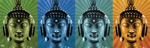 Buddha-Buddah-Wearing-Headphones-Quad-Decorative-Music-Art-Poster-Print-12x36-0