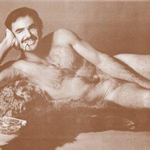 Burt-Reynolds-Nude-on-a-Bear-Skin-Rug-11-X-14-Sepia-Poster-0