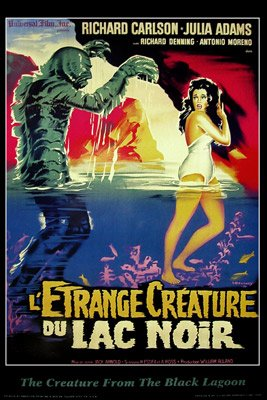 CREATURE-FROM-THE-BLACK-LAGOON1954Vintage-Movie-Poster-ReproductionFrench-style-0