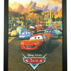 Cars-Disney-Pixar-Kids-Animation-Cartoon-Movie-24x36-Framed-Poster-C1-1005-0