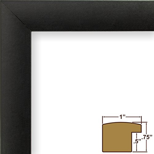 craig frames 1wb3bk 24 by 36inch picture frame smooth