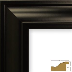 Craig-Frames-21834700BK-24x36-PicturePoster-Frame-Smooth-Finish-2-Inch-Wide-Black-0