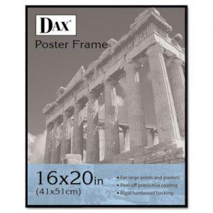 DAX-Coloredge-Poster-Frame-with-Plexiglas-Window-16-x-20-Inches-Clear-FaceBlack-Border-N16016BT-0