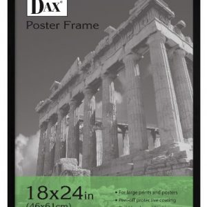 DAX-Flat-Face-Wood-Poster-Frame-Clear-Plastic-Window-18-x-24-Black-Border-0