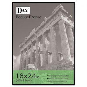 DAX-N16018BT-Coloredge-Poster-Frame-with-Plexiglas-Window-18-x-24-Clear-FaceBlack-Border-0
