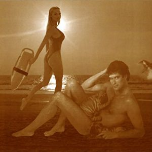 David-Hasselhoff-Nude-on-Beach-with-Pamela-Anderson-and-a-Great-White-Shark-11-X-14-Sepia-Poster-0