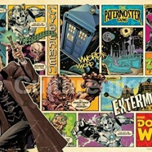 Doctor-Who-Comic-Strip-Collage-Cover-Art-Sci-Fi-British-TV-Television-Show-Poster-Print-24x36-0