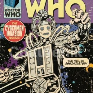 Doctor-Who-Cybermen-Invasion-Comic-Book-Cover-Art-Sci-Fi-British-TV-Television-Show-Poster-Print-24x36-0