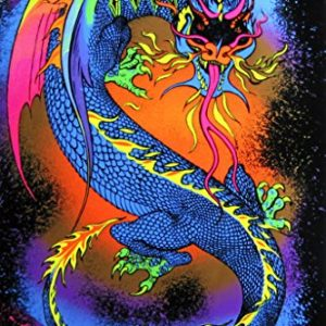 Dragon-Fire-Breathing-Fantasy-Psychedelic-Retro-Blacklight-Poster-23x35-0