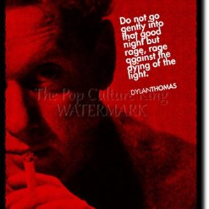 Dylan-Thomas-Art-Print-High-resolution-photo-poster-with-iconic-quote-A-completely-unique-gift-idea-Size-12x8-inches-0
