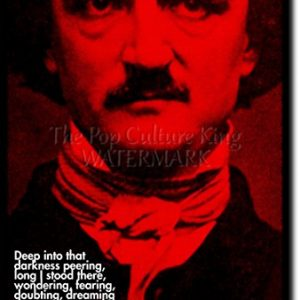 Edgar-Allen-Poe-Art-Print-High-resolution-photo-poster-with-iconic-quote-A-completely-unique-gift-idea-Size-12x8-inches-0