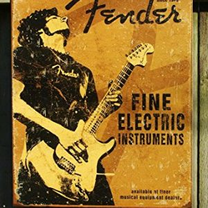 Fender-Rock-On-Guitar-Fine-Electric-Instruments-Distressed-Retro-Vintage-Tin-Sign-0
