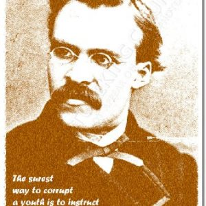 Friedrich-Nietzsche-Art-Print-HOW-TO-CORRUPT-A-YOUTH-Photo-Poster-With-Iconic-Quote-12x8-Inch-Unique-Gift-0