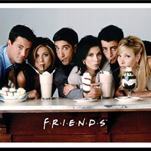 Friends-Milkshakes-TV-Romantic-Sitcom-Television-Show-Postcard-Poster-Print-Framed-11x14-0