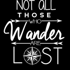 Geek-Details-Not-All-Those-Who-Wander-Are-Lost-Art-Print-Poster-black-11x17-0