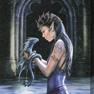 Gothic-Fantasy-Art-Anne-Stokes-Water-Dragon-Canvas-Print-19x25cm-0