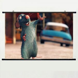 Home-Decor-Lovely-Animation-Cartoons-Cosplay-Poster-with-Ratatouille-Background-Wall-Scroll-Poster-Fabric-Painting-24-X-36-Inch-60cm-X-40cm-0