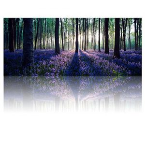 Large-Size-Canvas-Wall-Art-with-FrameLavender-ForestMild-SunshineLandscape-Canvas-Prints-Art-Wall-Decor-12-inches-Thick-FrameReady-Hanging-on-0