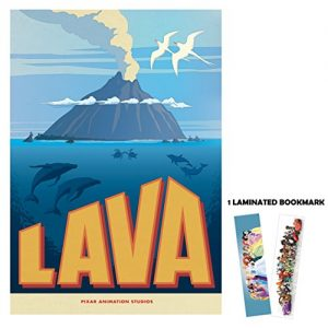 Lava-Short-Animation-Disney-Pixar-13-x-19-Poster-Flyer-BORDERLESS-1-Free-Laminated-Bookmark-0