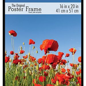 MCS-65534-Original-Poster-Frame-with-Strong-Pressboard-Backing-Black-16-by-20-Inch-0
