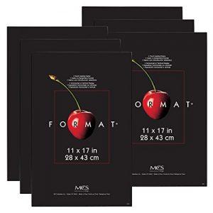 MCS-Format-Frame-6-Pack-11-by-17-Black-0