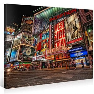MUSICAL-BROADWAY-Premium-Canvas-Art-Print-40x30-inch-Large-New-York-Cityscape-Wall-Art-Deco-Canvas-Picture-Stretched-on-Wooden-Frame-as-Modern-Gallery-Artwork-e6121-0