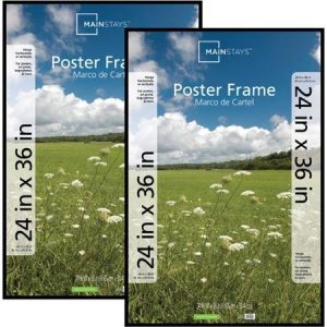 Mainstays-24x36-Basic-Poster-Picture-Frame-Black-Set-of-2-0