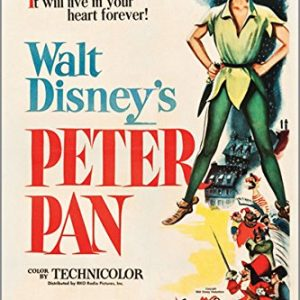 PETER-PAN-RKO-1953-vintage-movie-poster-WALT-DISNEY-musical-KIDS-24X36-new-2-TO-5-DAYS-SHIPPING-FROM-USA-0