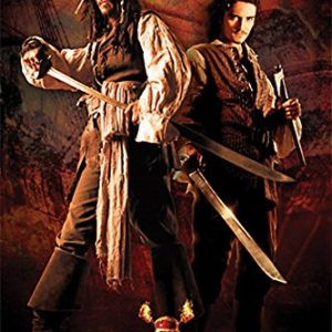 Pirates-of-the-Caribbean-2-Dead-Mans-Chest-Jack-and-Will-Swords-Action-Adventure-Movie-Film-Poster-Print-24x36-0