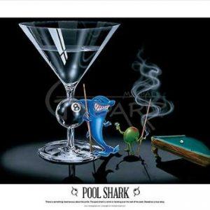 Pool-Shark-Michael-Godard-Fantasy-Cocktail-Gambling-Humor-Funny-Martini-Print-Poster-24x36-0