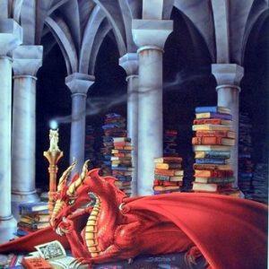 Priceless-Treasure-Dragon-Sue-Dawe-Fantasy-Kids-Room-Art-Print-Poster-16x20-0