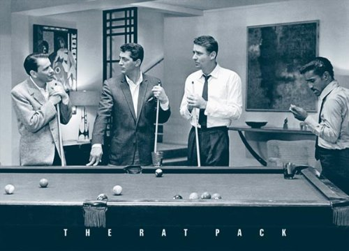 rat pack shooting pool art print poster poster print 36 24 movie poster print 36 24 classic. Black Bedroom Furniture Sets. Home Design Ideas