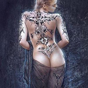 Sexy-Tatooed-Fantasy-Girl-by-Luis-Royo-Delor-Art-Print-Poster-24x36-0