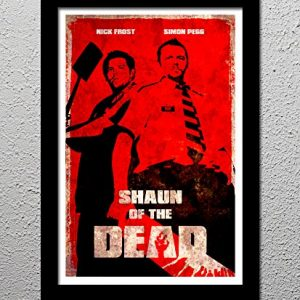 Shaun-of-the-Dead-Nick-Frost-Simon-Pegg-Zombie-Comedy-Horror-Movie-Original-Minimalist-Art-Poster-Print-0