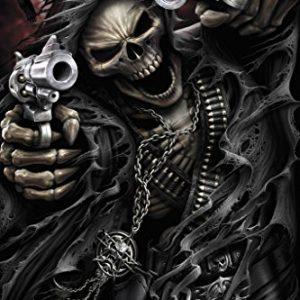 Spiral-Assassin-Grim-Reaper-With-Guns-Revolvers-Skeleton-Death-Fantasy-Horror-Biker-Poster-12x18-0