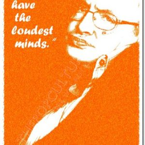 Stephen-Hawking-Art-Print-QUIET-PEOPLE-HAVE-THE-LOUDEST-MINDS-Photo-Poster-With-Iconic-Quote-12x8-Inch-Unique-Gift-Peace-Motivation-Introvert-0